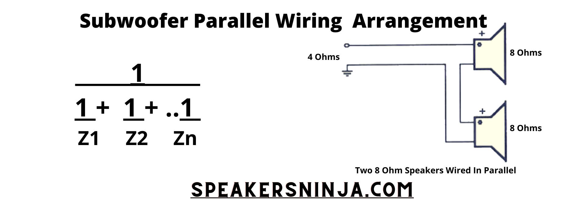 Subwoofer Parallel Wiring Arrangement